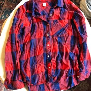 Women's flannel button down gap size small